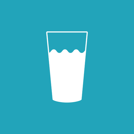 Glass milk vector icon. Illustration isolated on a background Ilustrace