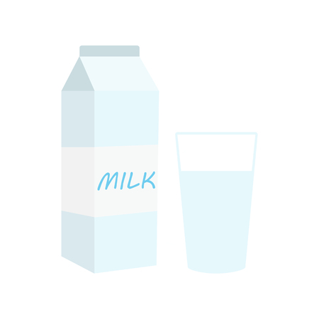 Glass milk vector icon. Illustration isolated on a background 向量圖像