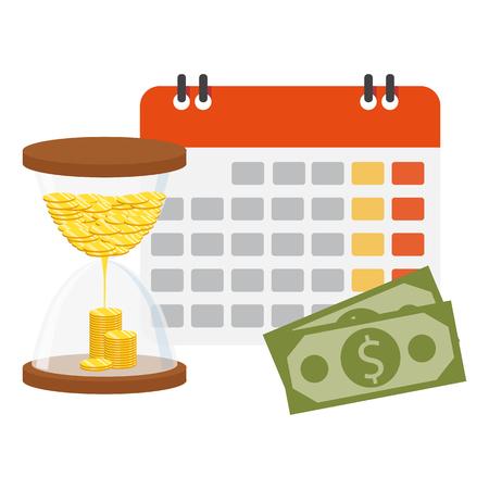 Financial calendar and planning concept. Vector illustration design Illusztráció