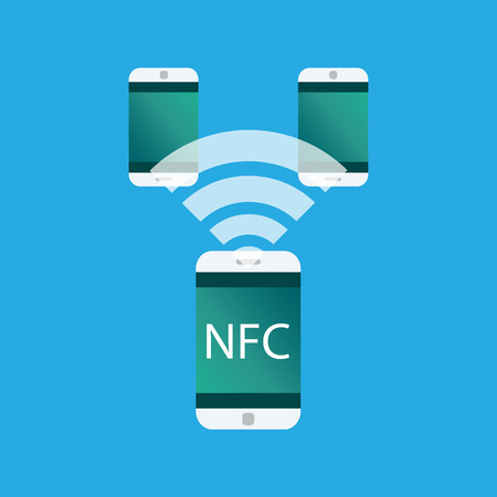 NFC touch payment concept. Vector icon.