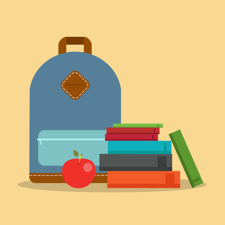 Education icon. Graduate in a hat, books, certificate. Vector illustration