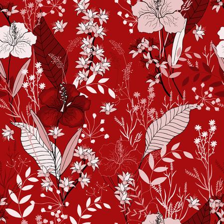Spring flowers seamless pattern. Wallpaper.