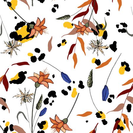 Flower seamless pattern. 写真素材 - 118622886