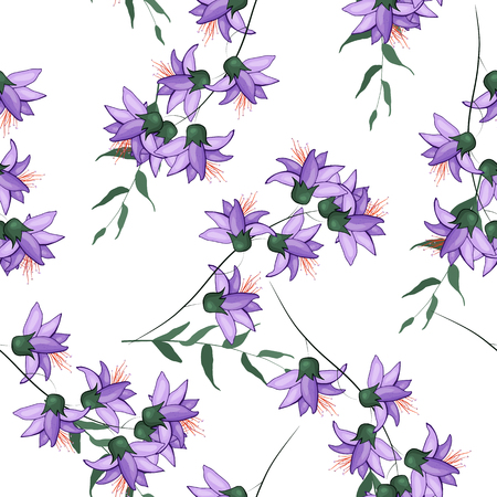 Bohemian flowers pattern. Seamless floral hand drawn mix. Vector illustration for fashion, fabric. Scarf prints