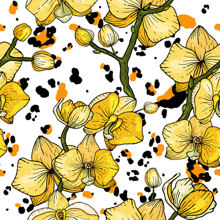 Flower   seamless pattern. 写真素材 - 118622889