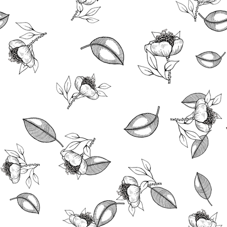 Antistress coloring page isolated on white background. Seamless floral background