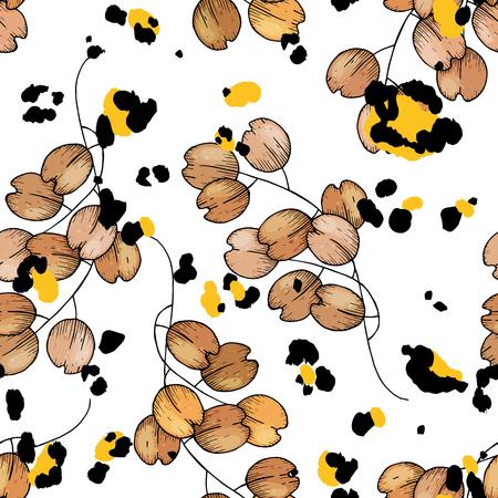 Seamless flower pattern.  イラスト・ベクター素材