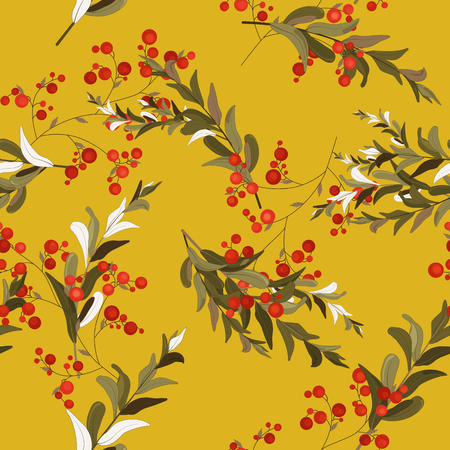 Blossom floral seamless pattern. Vintage background. Blooming realistic isolated flowers. Hand drawn vector illustration.
