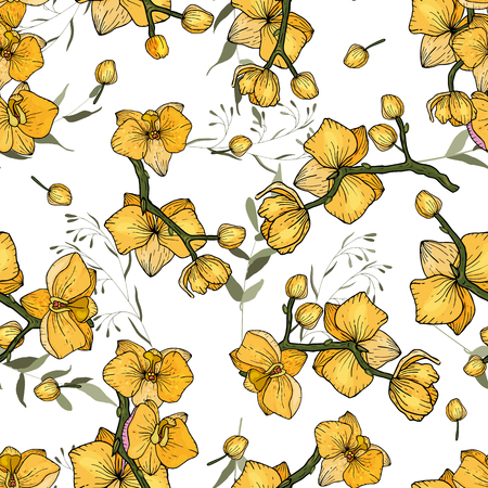 Bohemian flowers pattern. Seamless floral hand drawn mix. Vector illustration  イラスト・ベクター素材