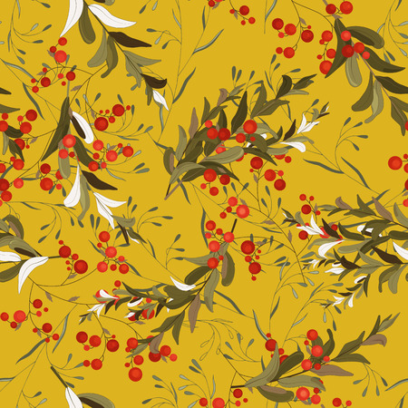 Retro wild seamless floral pattern. Vintage background blooming realistic isolated flower print. Hand drawn vector illustration.