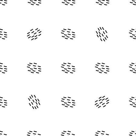 Black and white seamless pattern in retro vintage style. Elegant doodle shapes decoration. Vector geometric design illustration