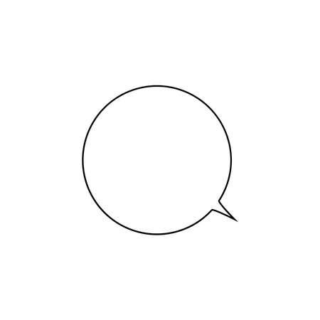 Comment icon vector chat message logo, isolated speech bubble simple template, symbol illustration Ilustração
