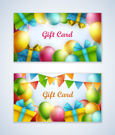 bright: Bright vector gift cards.