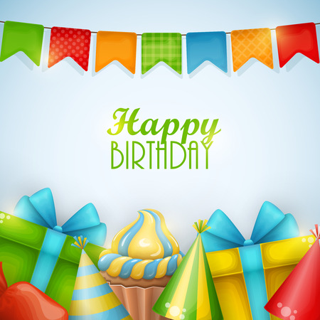 Birthday background. Vector illustration. Illustration
