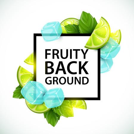 Buntes Scheiben-Frucht-Logo-Plakat Mit Fünf Stücken Süßer Beere Für ...