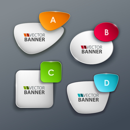 web design banner: Vector banners set. Illustration