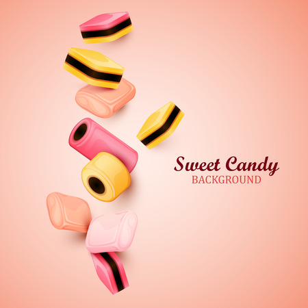 liquorice: Abstract background with candies.