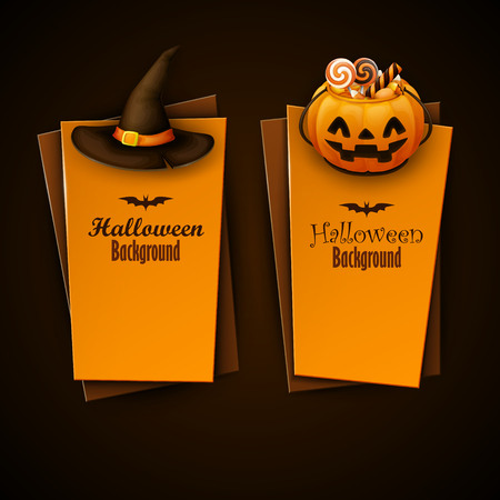 Halloween banners set Vektoros illusztráció