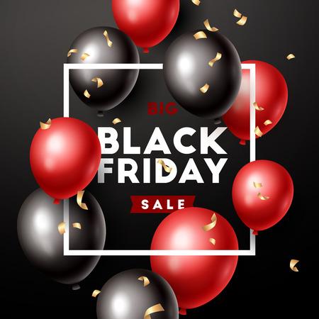 Black Friday banner. Vector illustration