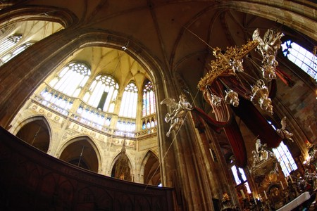 celling: The tomb of John of Nepomuk inside Saint Vituss Cathedral