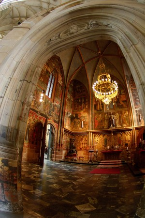 celling: Chapel of Saint Vituss Cathedral in Prague
