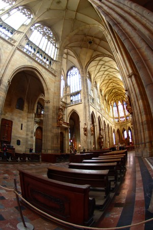 celling: Interior of Saint Vituss Cathedral in Prague
