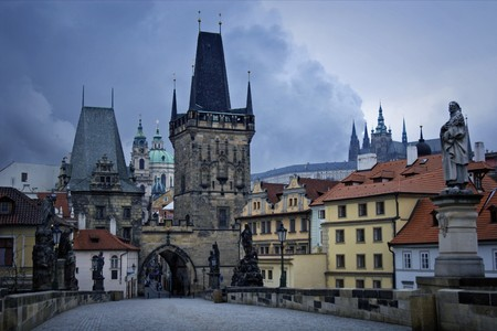 vltava: Charles Bridge is a bridge that crosses the Vltava river in Prague