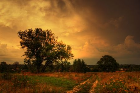 Autumn landscape before thunderstorm Stock Photo - 5051046