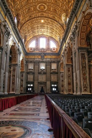 Interior of St.Peter's cathedral. Vatican, Italy Stock Photo - 5108624