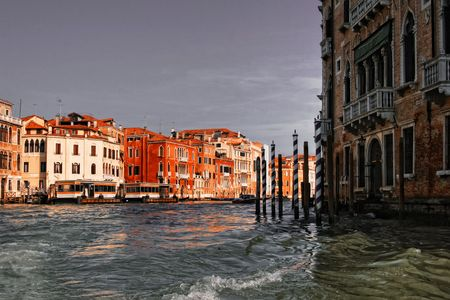 Venice houses on The Grand Canal. Italy photo