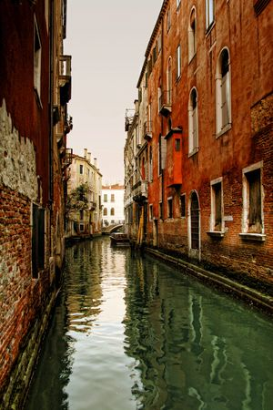 Italy. Venice. View on small canal photo