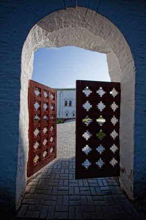 Suzdal Kremlin with wood Gate. Russian Federation Stock Photo - 5405502