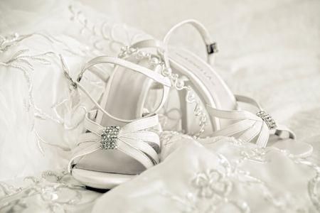 Still life of wedding accessories photo
