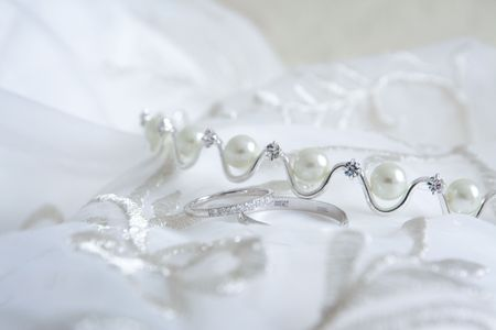 Still life of wedding accessories photo