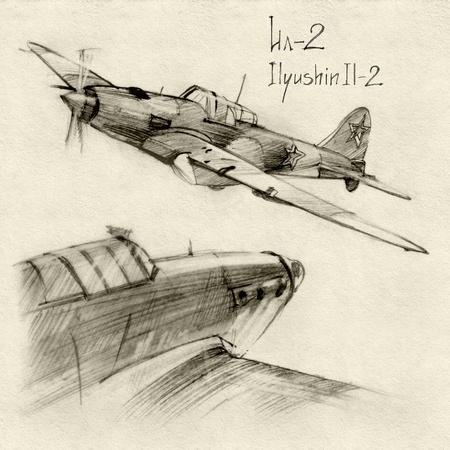 소련의 군사 계기 시리즈. Ilyushin Il-2 제 2 차 세계 대전에서 지상 공격 항공기 (Shturmovik)