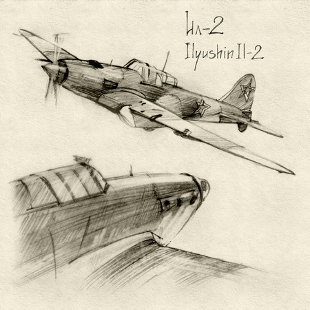 The series of soviet military enginery. The Ilyushin Il-2 a ground-attack aircraft (Shturmovik) in the Second World War