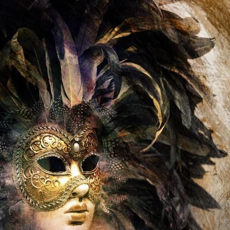 ヴェネツィアのカーニバル マスク 写真素材