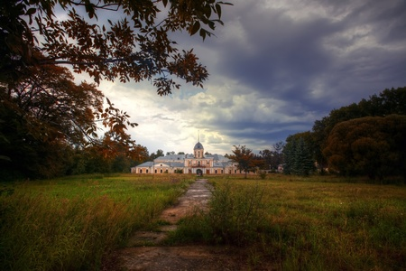 possession: Desolate old mansion, Vladimir region, Russia Stock Photo