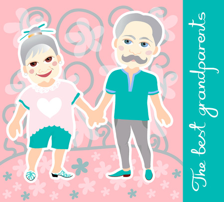 National Grandparents Day. Greeting card. Ilustração