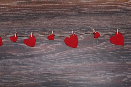 st valentin: Decorative heart Felt for design to Valentines Day