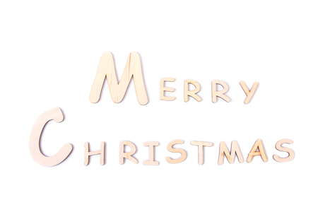 Merry Christmas Holiday Greetings Card on white board table