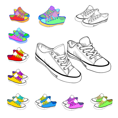 sketch sneakers and brightly colored sneakers, casual,design, fashion