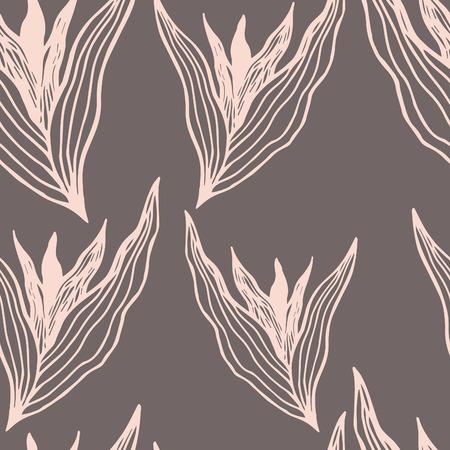 masculine: Autumn Flowers vector seamless pattern. Modern stylish texture. Floral background.