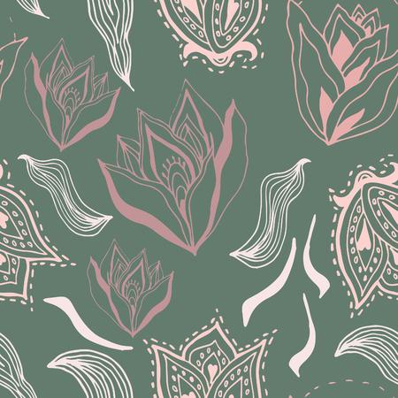 autumn flowers: Autumn Flowers vector seamless pattern. Modern stylish texture. Floral background.