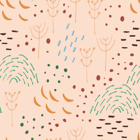scandinavian: Scandinavian style abstract seamless vector pattern. Happy holidays