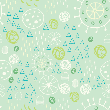 Scandinavian style abstract seamless vector pattern. Happy holidays