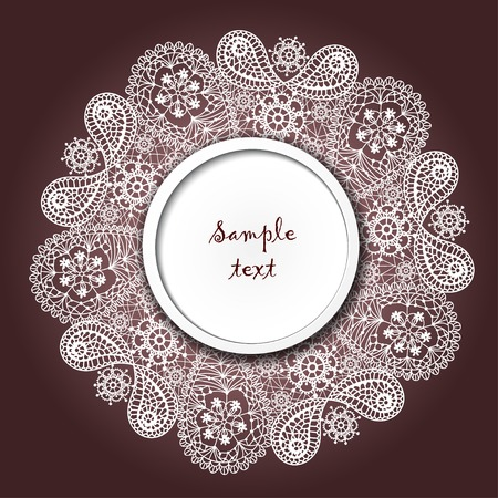 arabesque antique: Ornamental winter hand-drawn lace snowflake. Doodle background with place for your text. Vector file has few layers for easy using.