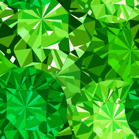 Gem seamless pattern. Emerald seamless pattern background.