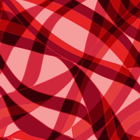 sheepskin: Seamless red wave hand-drawn pattern