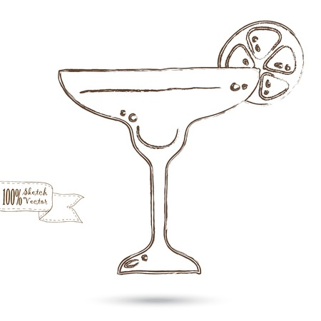 martini glass: Wine Glass Isolated On The White Background